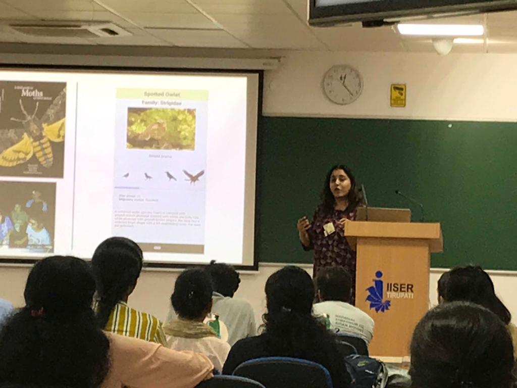 Manjari at AABI 2019 at IISER Tirupati